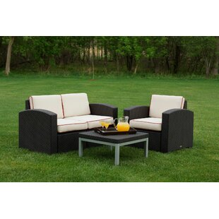 Loggins 3 Piece Sofa Set with Cushions