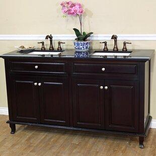 Lewis 62 Double Bathroom Vanity Set by Bellaterra Home