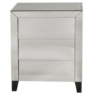 McCollough Mirrored Louver 3 Drawer Accent Chest by House of Hampton