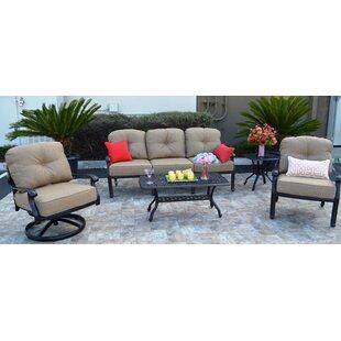 Kristy 5 Piece Sunbrella Sofa Set with Cushions