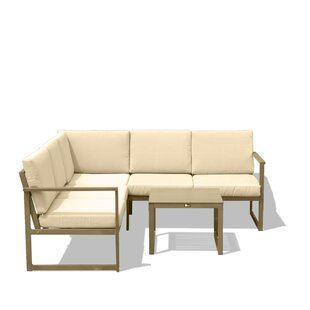 Hitchin Outdoor 3 Piece Sectional Seating Group with Cushions