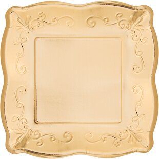 Square Banquet Paper Disposable Dinner Plate (Set of 24)