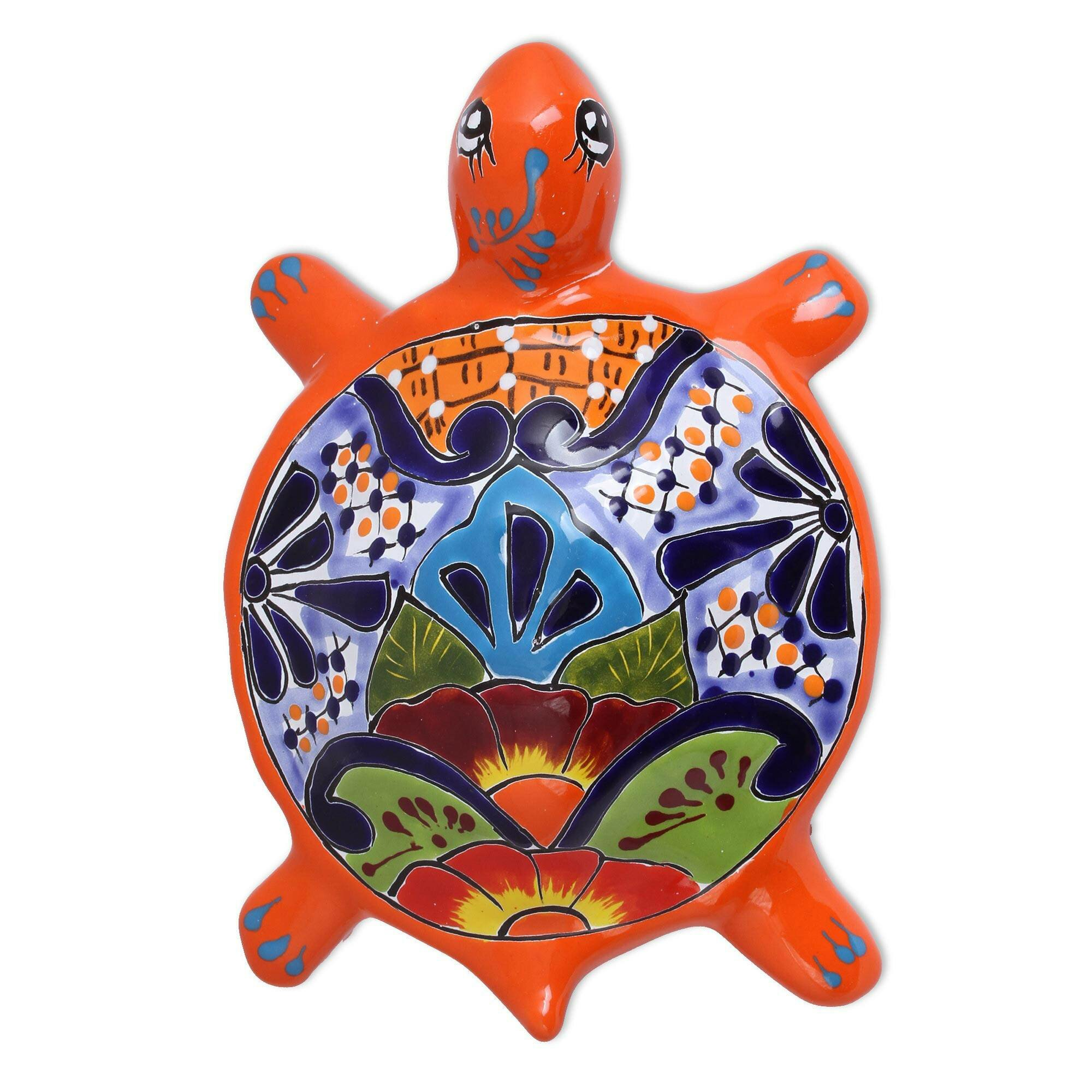 World Menagerie Round Turtle Ceramic Wall Decor Wayfair