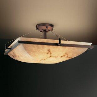 Brayden Studio Keyon 6 Light Semi Flush Mount
