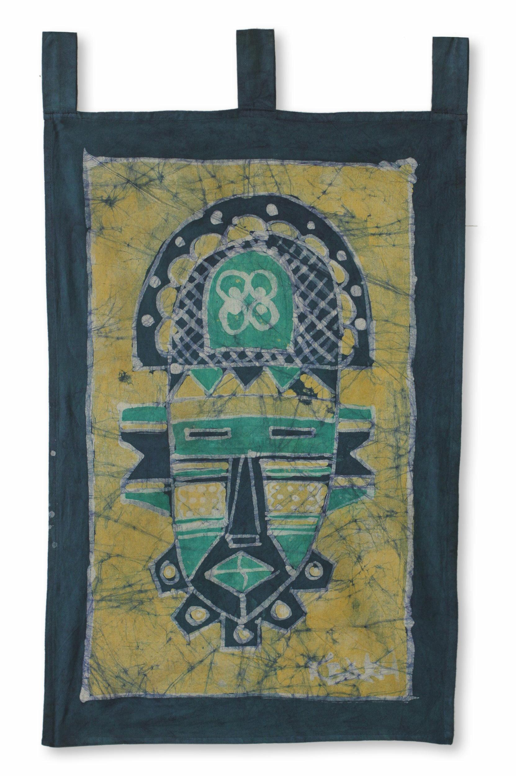 World Menagerie Cotton Batik Mate Masie African Mask Tapestry Wayfair