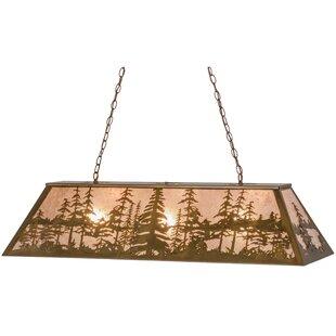 Meyda Tiffany Greenbriar Oak Tall Pines 3-Light Pendant