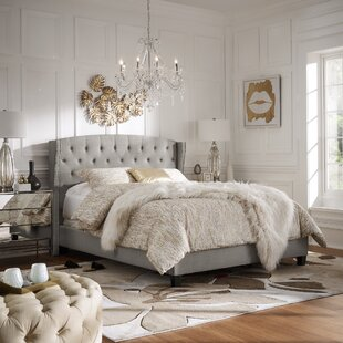 Scottsburg Tufted Solid Wood and Upholstered Low Profile Standard Bed