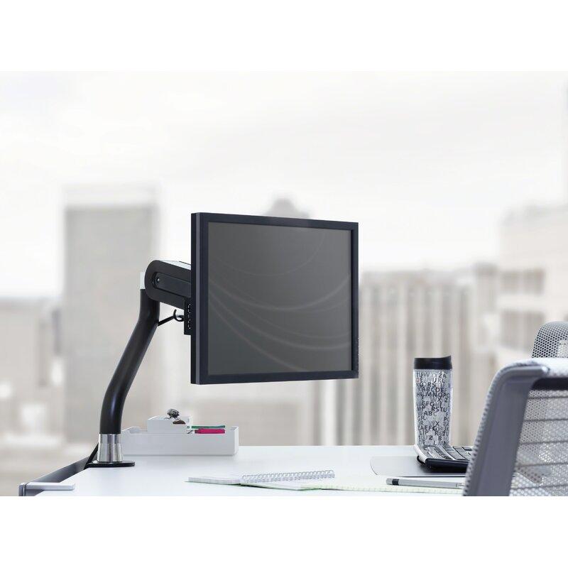 FYI Single Flat Panel Monitor Arm Height Adjustable Desk Mount