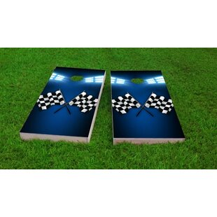 Custom Cornhole Boards Checkered Flag Cornhole Game Set