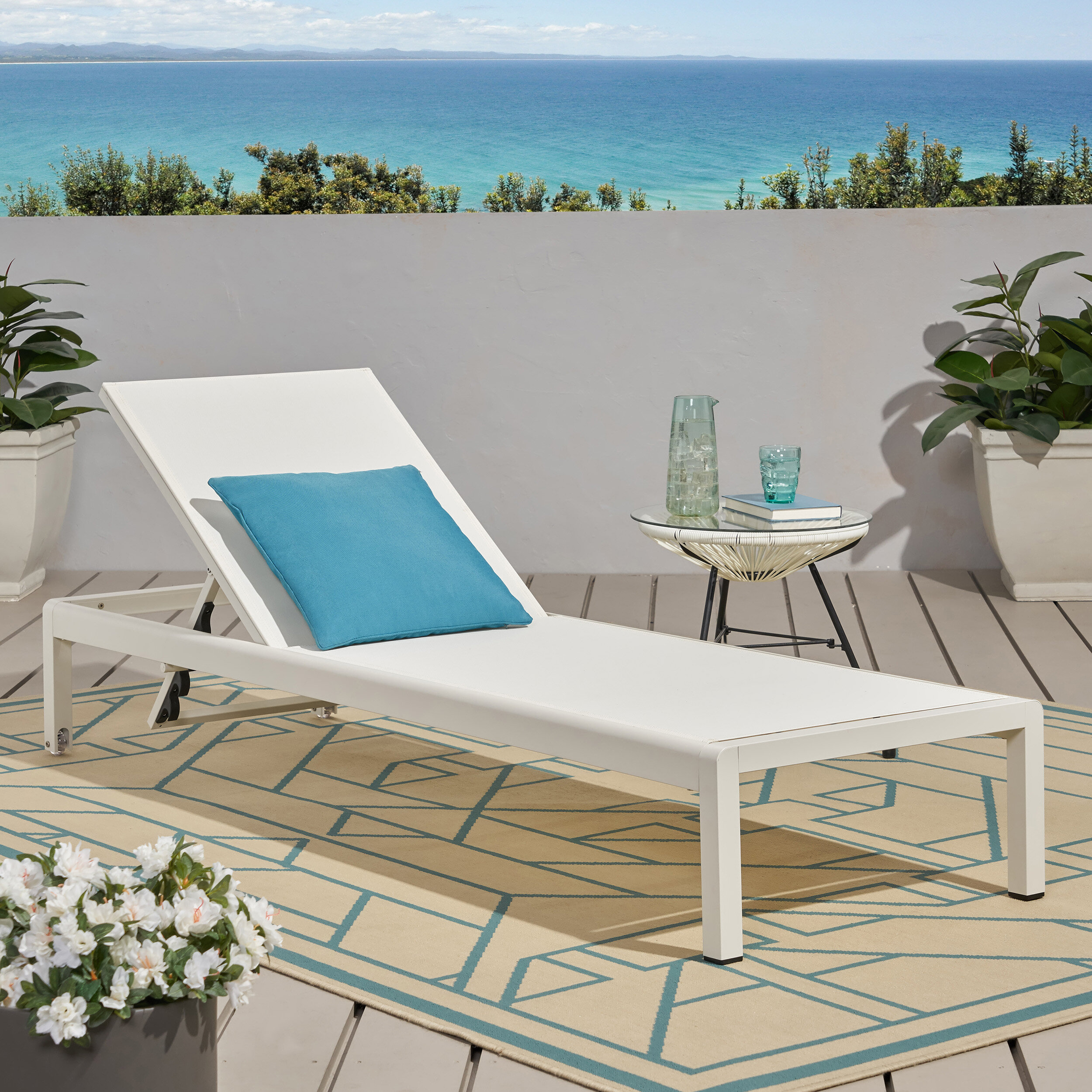 White Outdoor Chaise Lounge Chairs You Ll Love In 2020 Wayfair