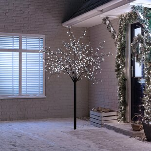 400 Cool White LED Kyoto Blossom Christmas Lighted Trees By The Seasonal Aisle
