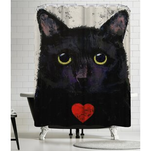 Michael Creese Love Cat Single Shower Curtain