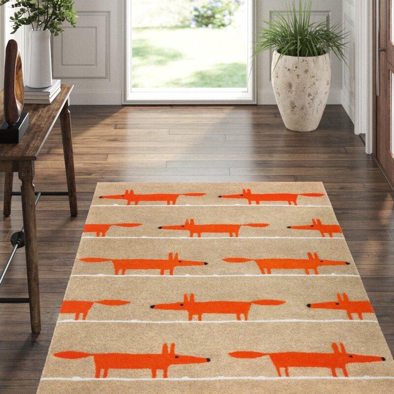 Scion Scion Handmade Tufted Wool Orange Beige Area Rug Perigold