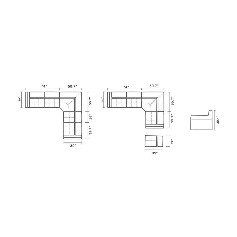 Orren Ellis Wyble Symmetrical Modular Sectional Wayfair