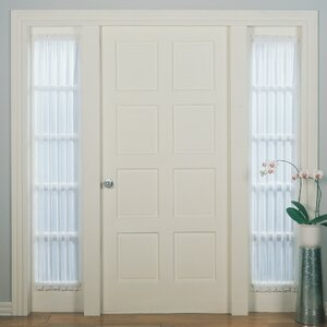 Solid Sheer Rod Pocket Single Curtain Panel