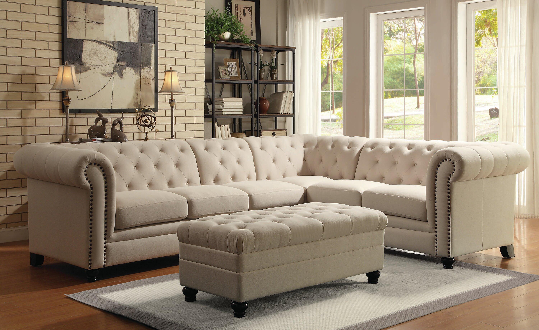 Enjoyable Buariki Reversible Sectional With Ottoman Creativecarmelina Interior Chair Design Creativecarmelinacom