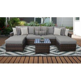 River Brook 7 Piece Outdoor Wicker Patio Furniture Set 07a