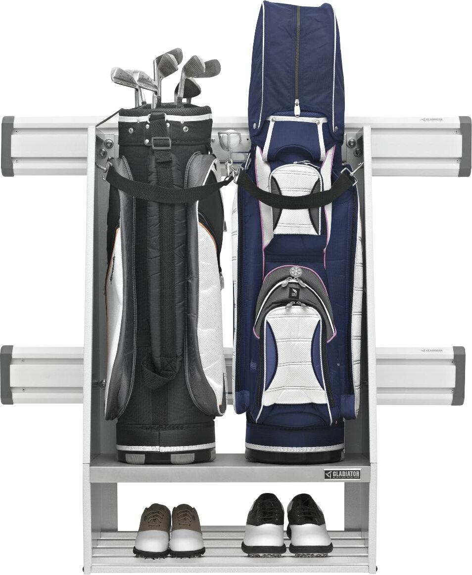 Gladiator Premier Series Golf Caddy Garage Wall Storage Mounted Sports Rack Reviews Wayfair