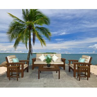 Days End 6 Piece Sunbrella Sofa Set with Cushions by Hershy Way