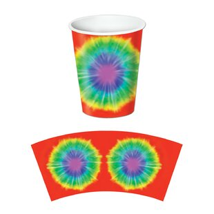 Tie-Dyed Paper Disposable Cup