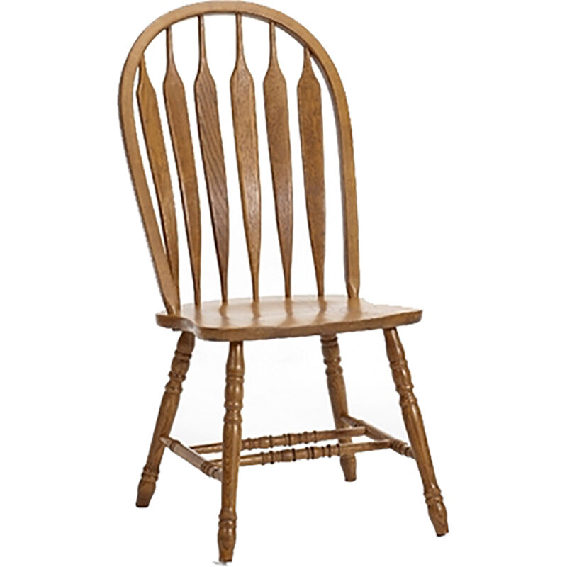 August Grove Akron Windsor Back Solid Wood Dining Chair | Wayfair