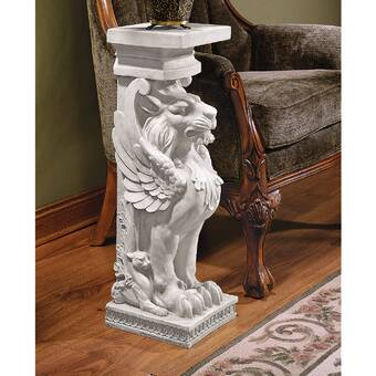 Design Toscano French Neoclassical Griffin Pedestal Plant Stand Reviews Wayfair