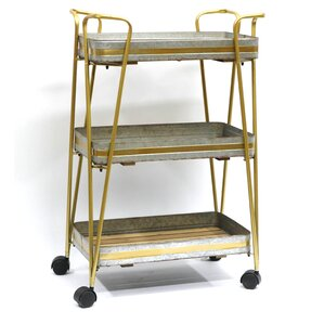 3 Tiered Metal Storage Utility Cart