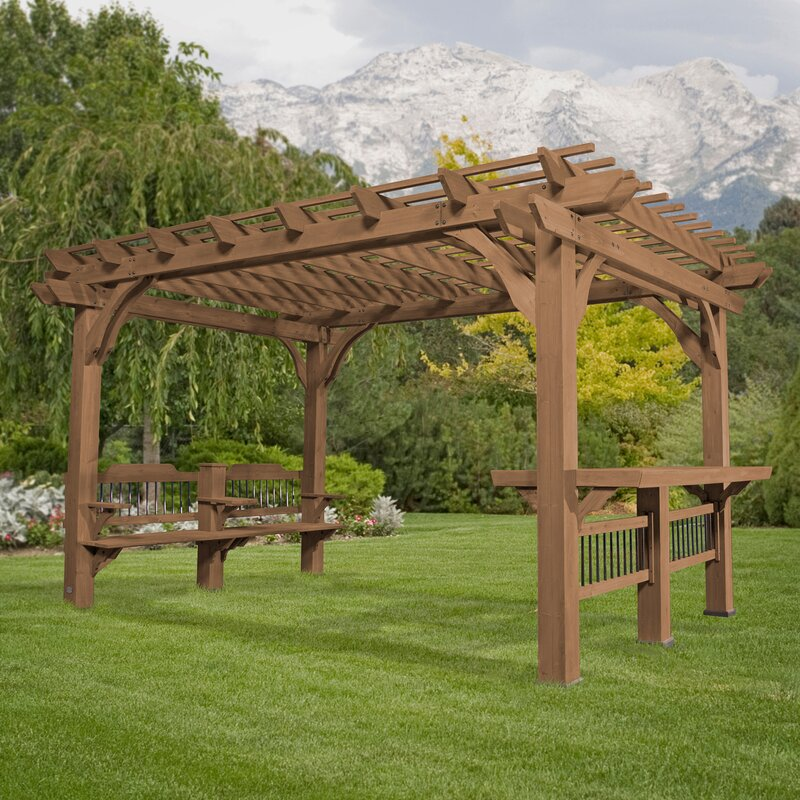 Backyard Discovery Oasis 14 Ft. W X 10 Ft. D Solid Wood