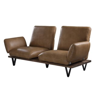 Roane Leather Sofa By Union Rustic