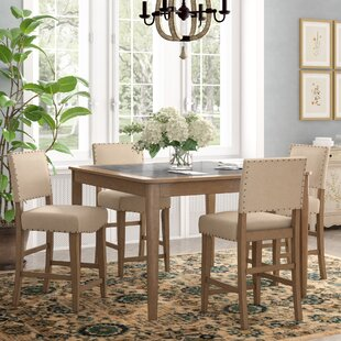 Lowndes 5 Piece Dining Set Three Posts