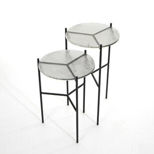 Aldoris Glass Top 3 Legs Nesting Table By Latitude Run