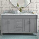Analicia 61 Double Bathroom Vanity Set by Latitude Run®