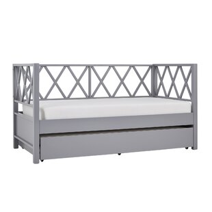 Hayes X Back Daybed with Trundle by Beachcrest Home