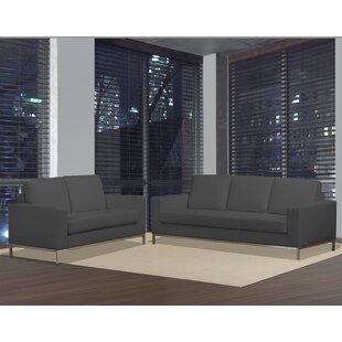 Witney 2 Piece Leather Living Room Set by Orren Ellis