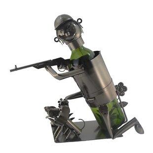 Kneeling Hunter 1 Bottle Tabletop Wine Ra..