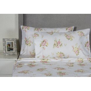 Melange Home Rose Bouquet 400 Thread Count Cotton Sheet Set