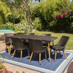George Oliver Portland Wicker 7 Piece Dining Set