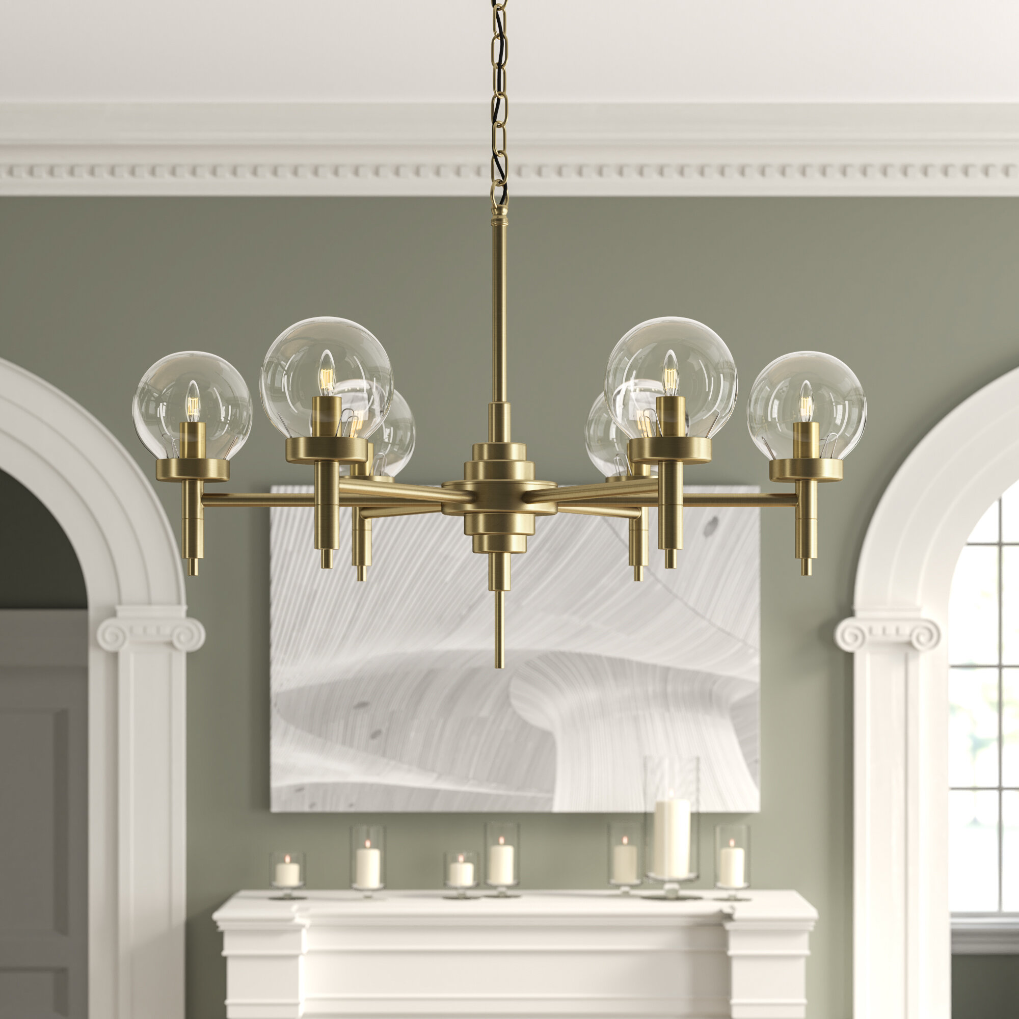 Noir 6 Light Shaded Classic Traditional Chandelier Perigold