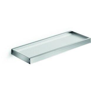 Soucy Glass Wall Shelf with Rails by Orren Ellis