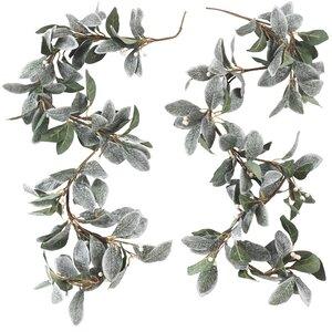 Decorative Frosted Leaf Branch Garland (Set of 2)