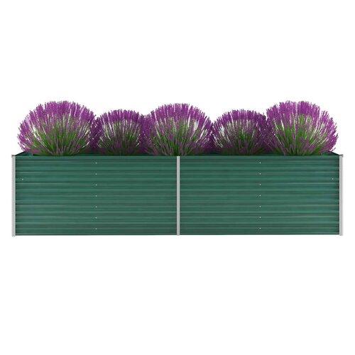 Garden Metal Planter Box Freeport Park Colour: Green, Size: