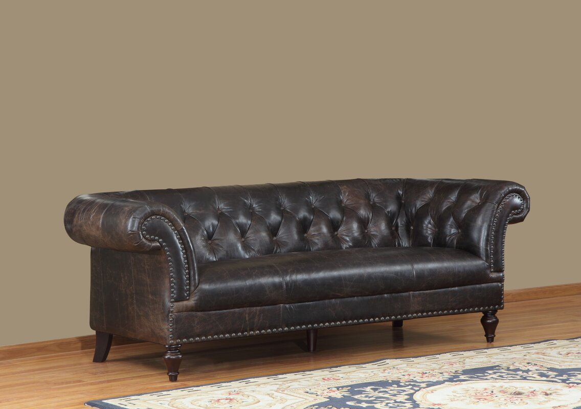 Lazzaro Leather Brooks Leather Chesterfield Sofa Reviews Wayfair - Leather chesterfield chairs