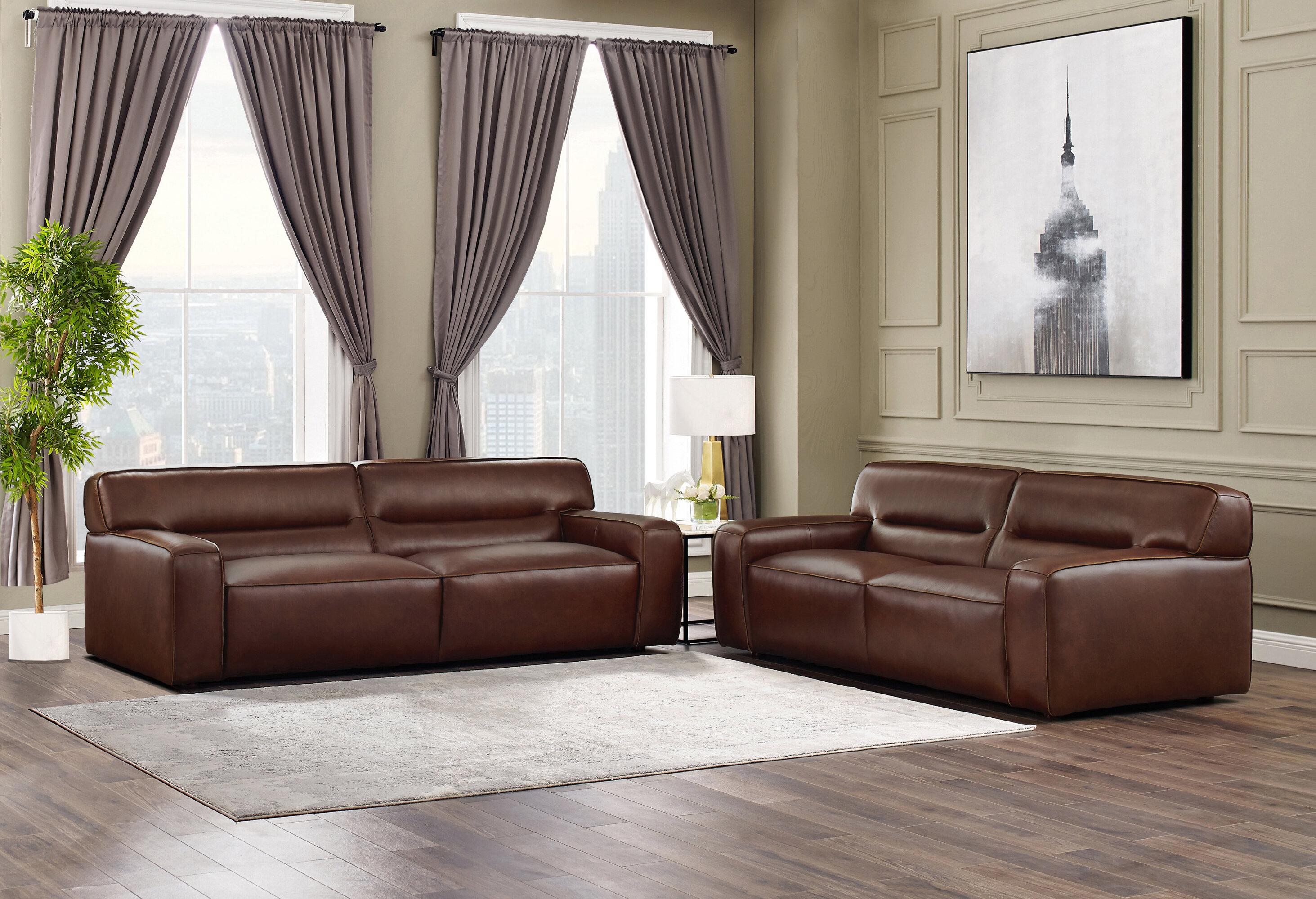 Myriam Leather Configurable Living Room Set