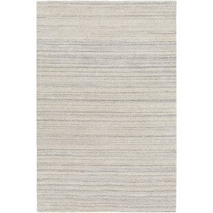 Compare prices Barclay Hand-Knotted Wool Black Area Rug ByFoundry Select