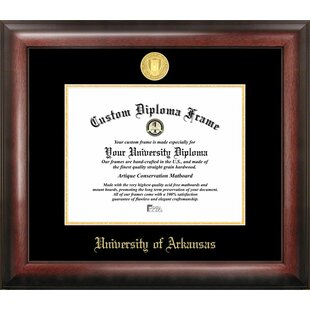 NCAA Arkansas Razorbacks Gold Embossed Diploma Frame By Campus Images