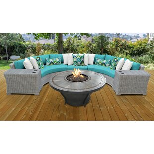 Coast 6 Piece Sectional Seating Group with Cushions
