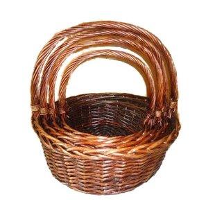 Round Willow Wicker Basket