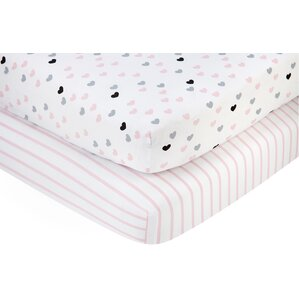 hugs and kisses fitted crib sheets set of 2
