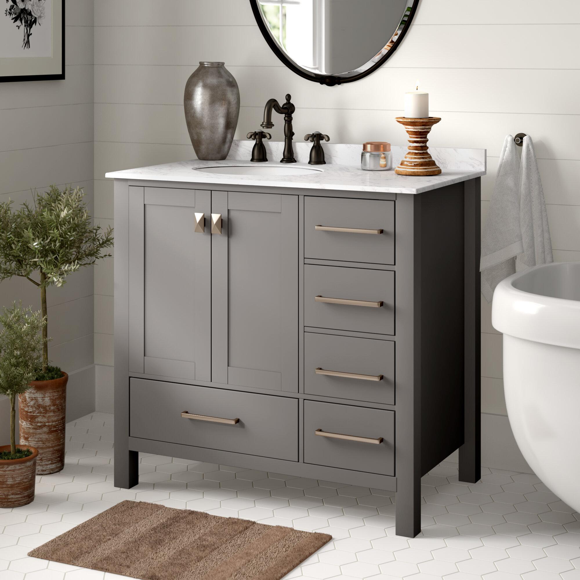 Awesome Newtown 36 Single Bathroom Vanity Set Interior Design Ideas Clesiryabchikinfo