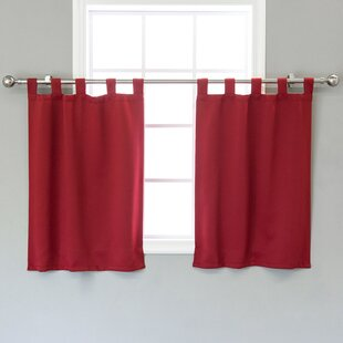 Portersville Solid Blackout Thermal Tab Top 29 Window Valance (Set of 2) by August Grove